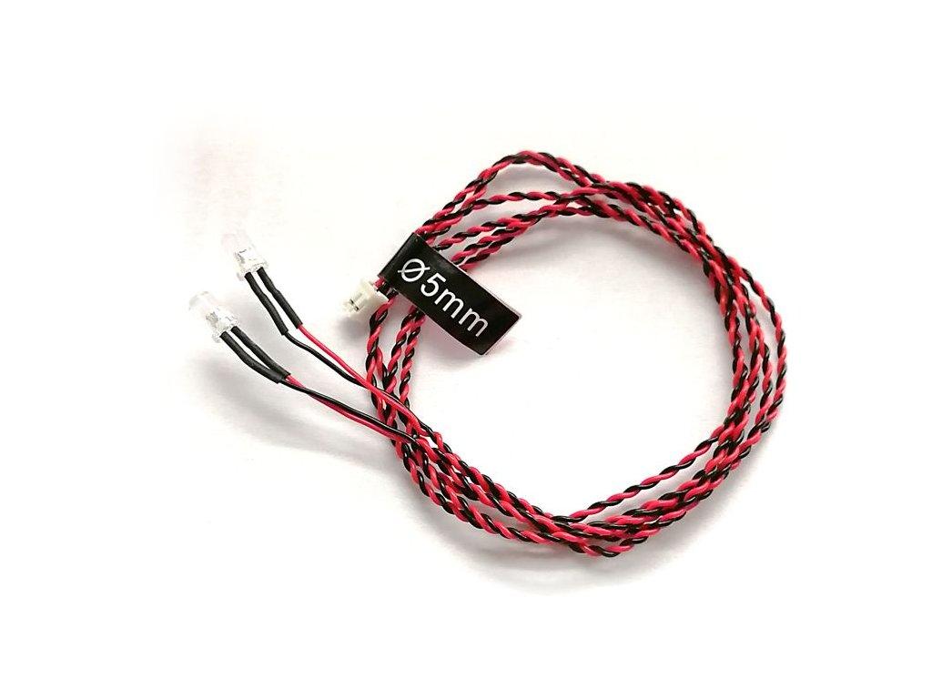 LED osvětlení kabel, dioda 5mm (80cm)