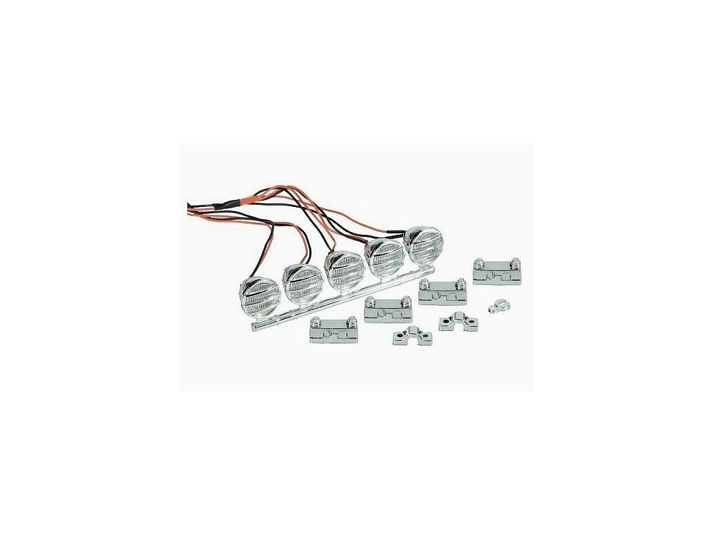 Sada světlometů Modelcraft LED Crawlere - Chrom