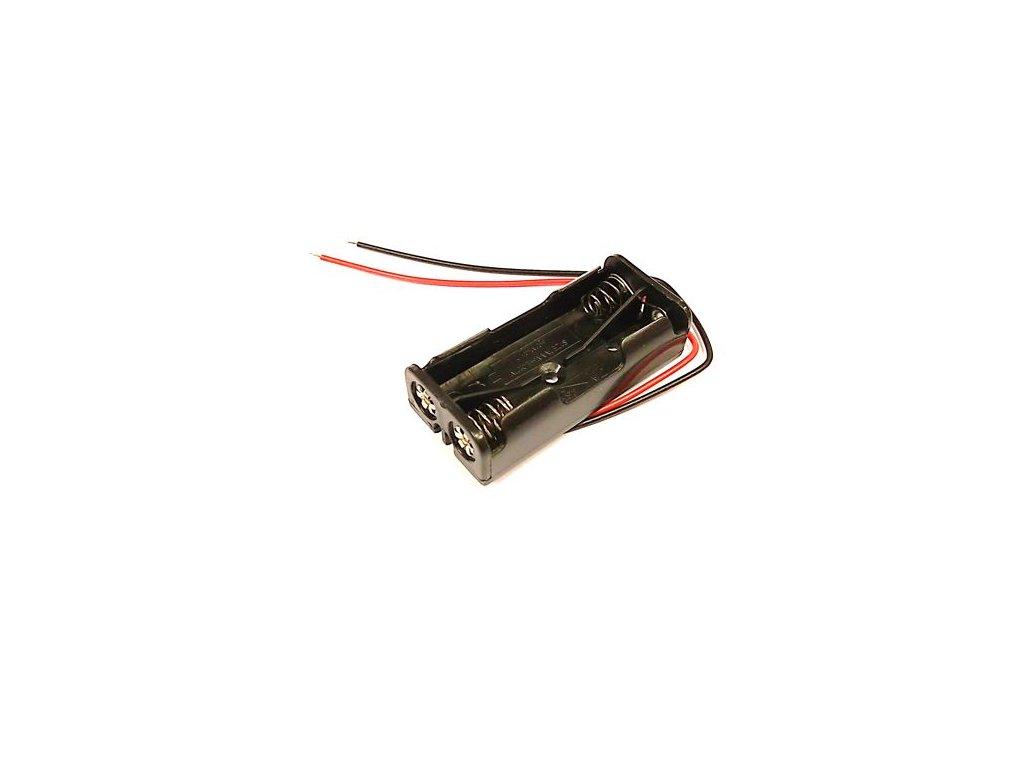 Držák baterie 2xAAA  s kabelem