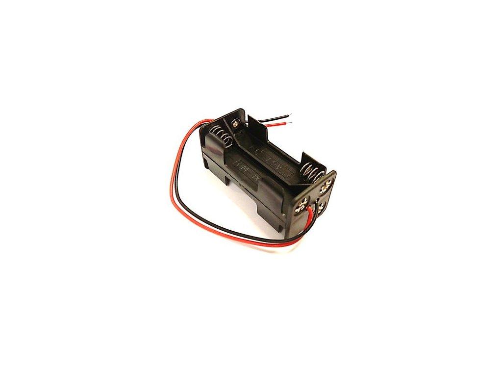 Držák baterie 4xAAA  s kabelem (2x2AAA pod sebou)