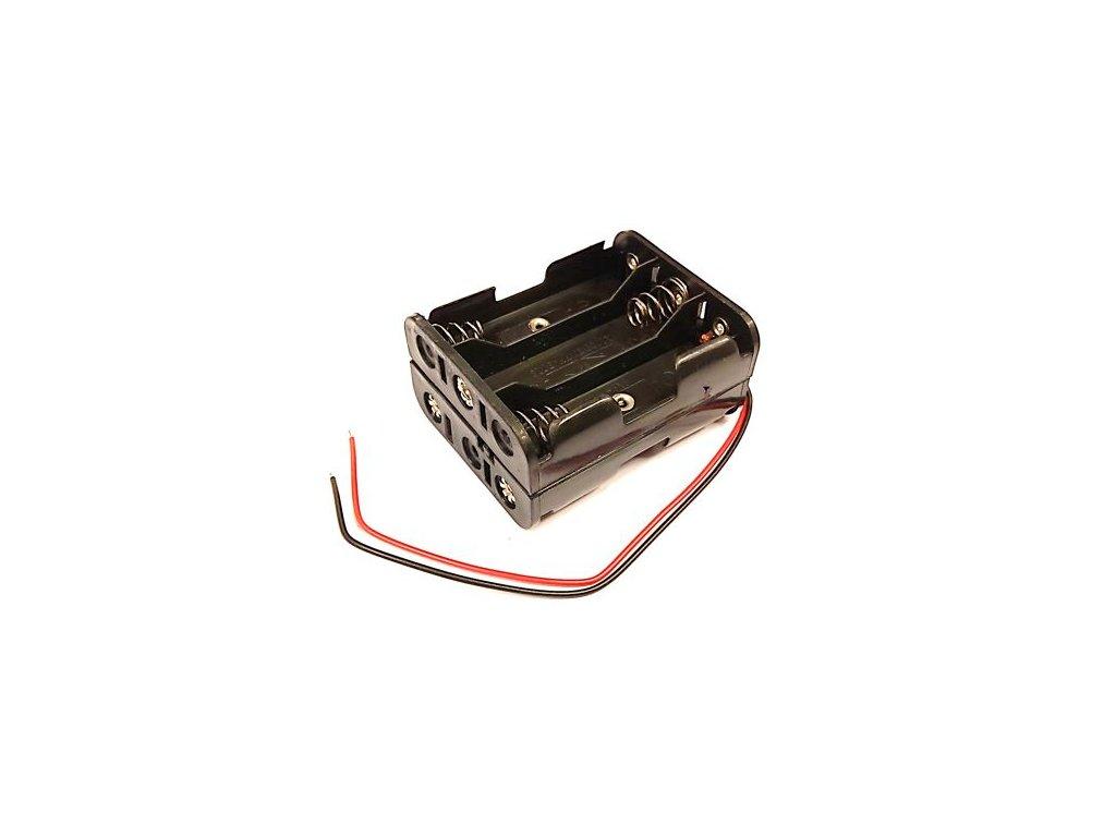 Držák baterie 6xAA s kabelem (2x3AA pod sebou)