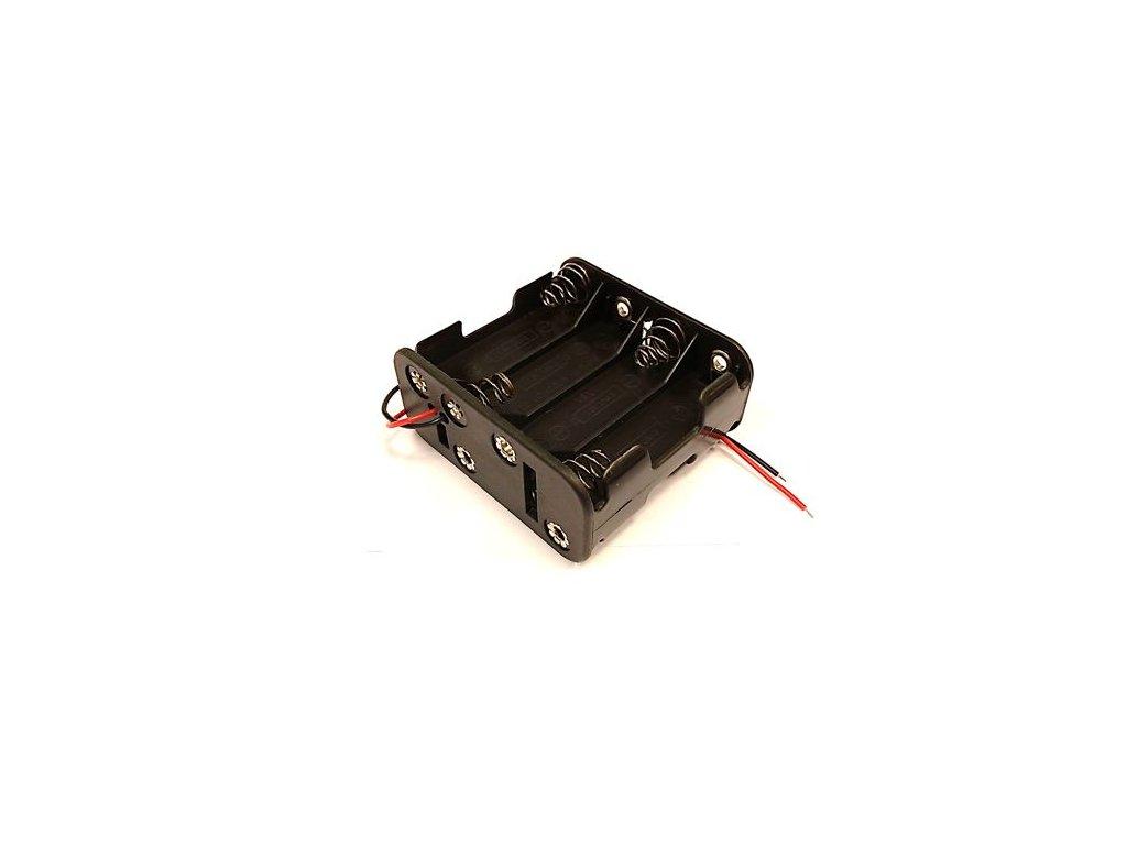 Držák baterie 8xAA s kabelem (2x4AA pod sebou)-A