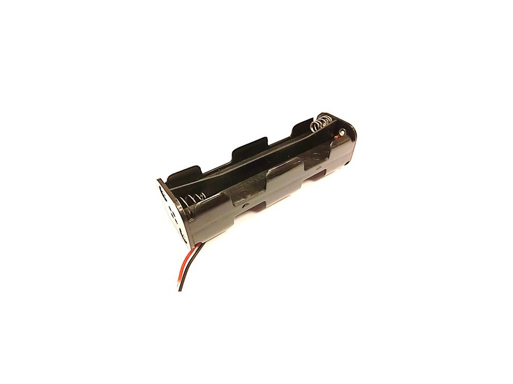 Držák baterie 8xAA s kabelem (2x4AA pod sebou)-B