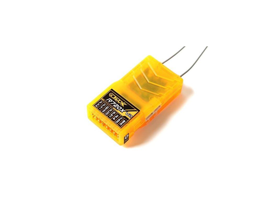 Přijímač OrangeRx R720X V2 7Ch 2.4GHz DSM2/DSMX Comp Full Range Rx w/Div Ant, F/Safe & CPPM