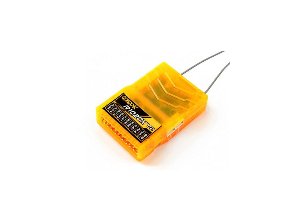 Přijímač OrangeRx R1020X V2 10Ch 2.4GHz DSM2/DSMX Compatibilty Full Range Rx w/Div Ant, F/Safe & CPPM