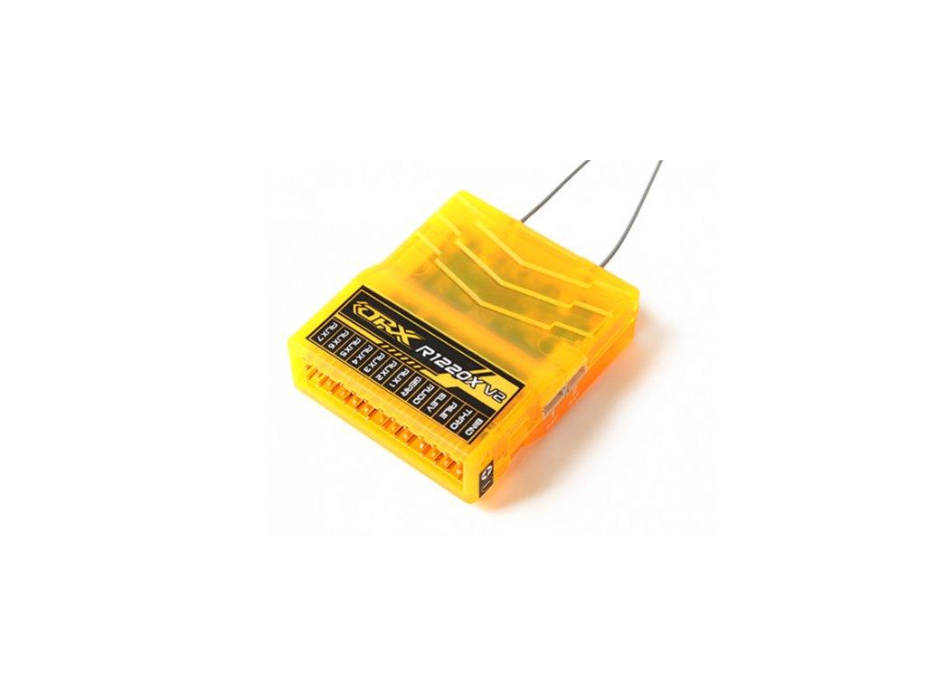 Přijímač OrangeRx R1220XLR 12Ch 2.4GHz DSM2/DSMX Compatible Long Range Rx w/Div Ant, F/Safe & CPPM