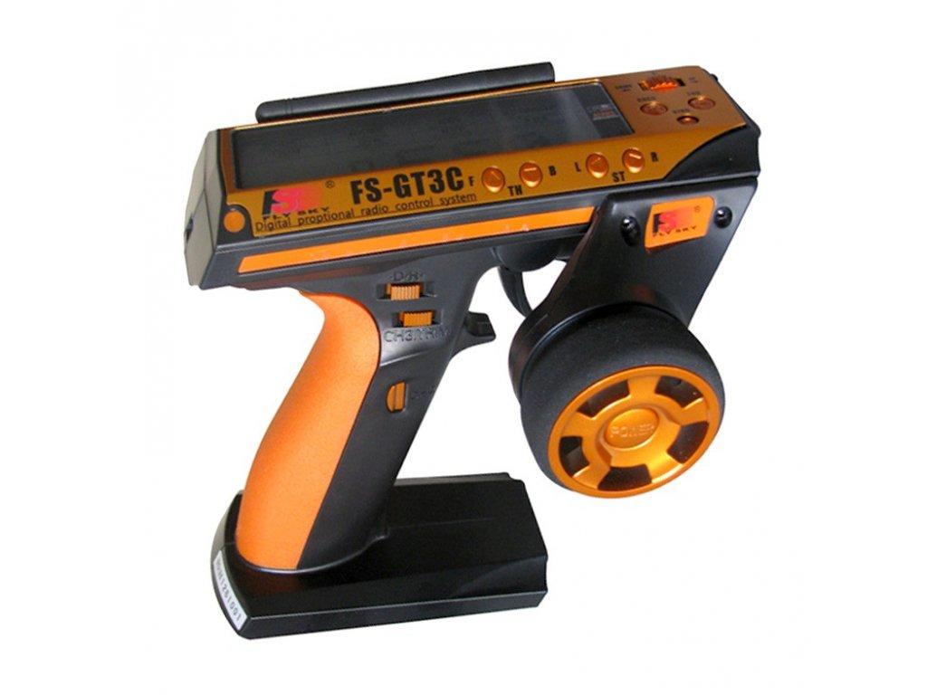 FS - GT3C 3Ch (originál) 2.4GHz + přijímač (orange)