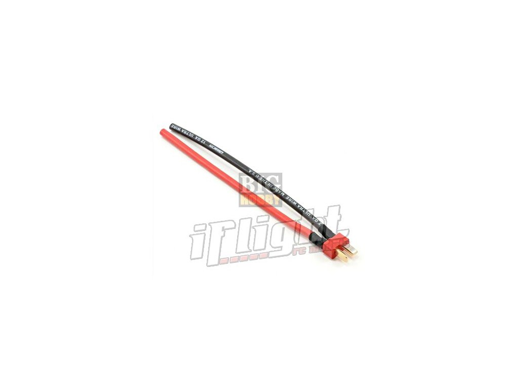 T konektor - samec, kabel 10cm