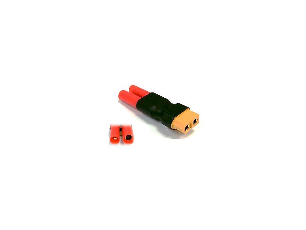 Adapter XT60 samice / HXT bullet 4mm