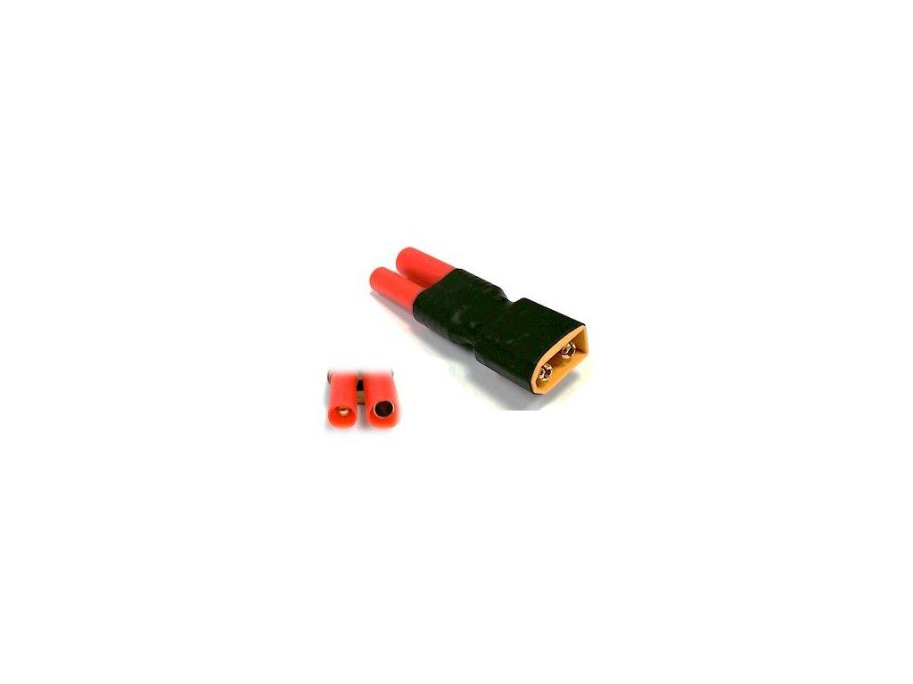 Adapter XT60 samec / HXT bullet 4mm