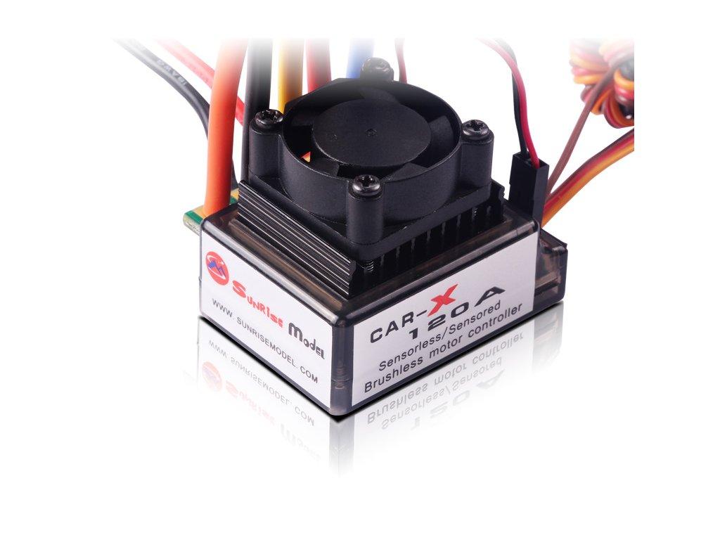 Sunrise X120A Car sensored střídavý regulátor 120A