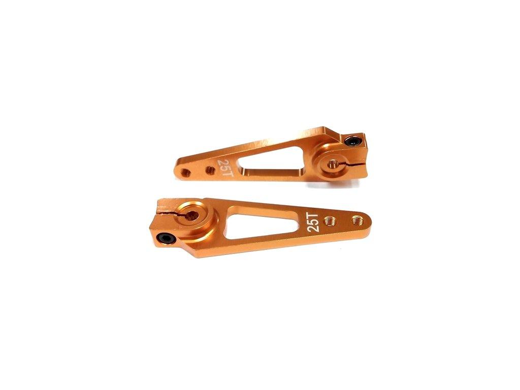 Alu (hliníková) servo páka 1E-25T (zlatá) - 50mm