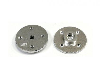 Alu (hliníková) kruhová 30mm servo páka 13B5-25T (stříbrná)