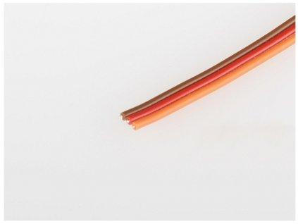 Servo kabel JR plochý 26AWG  (tenký 0,15mm) - 1m