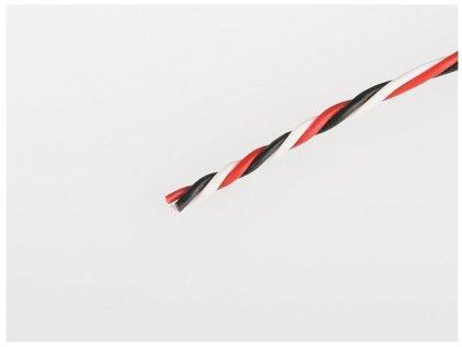 Servo kabel FUT kroucený 26AWG  (tenký 0,15mm) - 1m