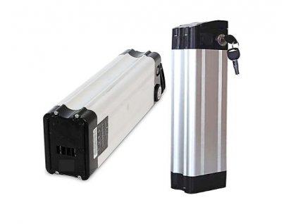 Baterie Li-ion 10Ah 36V do elektrokol  (svislá - silver fish)