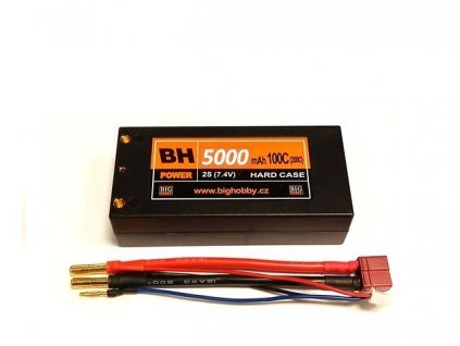 BH Power 5000 mAh 2S 100C (200C) HC (short HC), 1.6-1.7mΩ