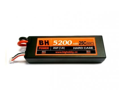 BH Power 5200 mAh 2S 25C (50C) HC (B) - AKCE !