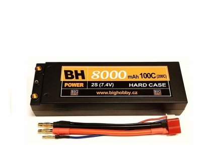 BH Power 8000 mAh 2S 100C (200C) HC (A), 1.7-1.8mΩ