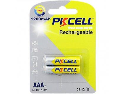 2ks Nabíjecí AAA 1200mAh Ni-Mh (1,2V) PK CELL baterie