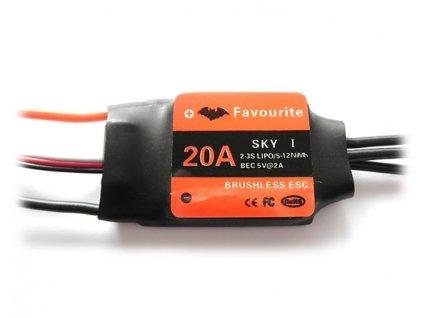 Regulátor Favourite SKY 20A   19g  ESC - Air/Heli