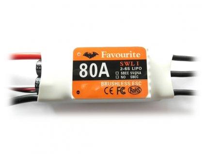 Regulátor Favourite SWL 80A SBEC (2-6S) 76g ESC - Air/Heli