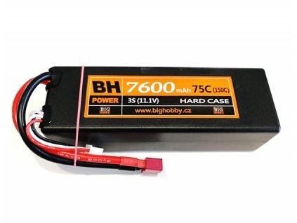 BH Power 7600 mAh 3S 75C (150C) HC (pevný obal)