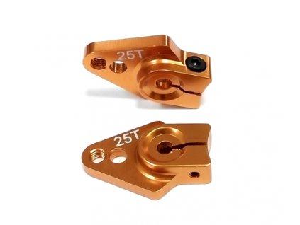 Alu (hliníková) servo páka 1A-25T (zlatá) -25mm