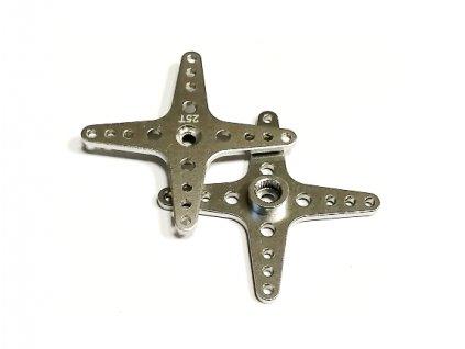 Alu (hliníková) křížová servo páka 13B3-25T (stříbrná)-50mm)