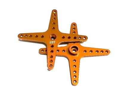 Alu (hliníková) křížová servo páka 13B4-25T (zlatá)-60mm)