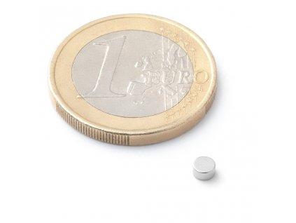 Extra silný neodymový magnet kruhový 3x1,5mm