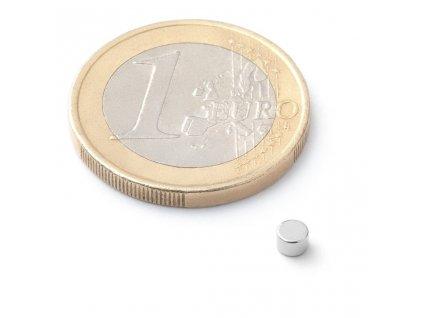 Extra silný neodymový magnet kruhový 3x2mm