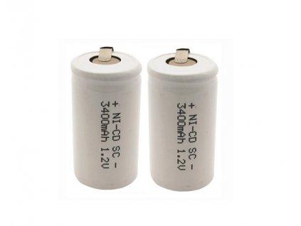 Nabíjecí průmyslový článek SC- 3400mAh NiCd 1.2V s kontaktama