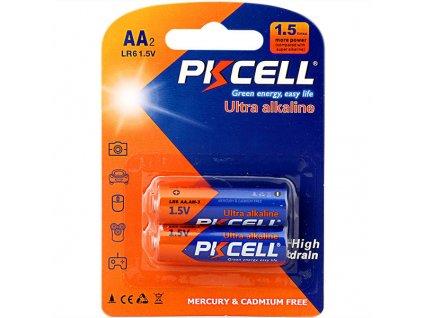 Alkalická PK CELL baterie AA - LR6 (1,5V) - 2ks