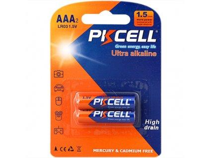 Alkalická PK CELL baterie AAA - LR03 (1,5V) - 2ks