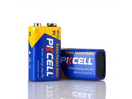 PK CELL - Zink baterie 9V - 6F22 - 1ks