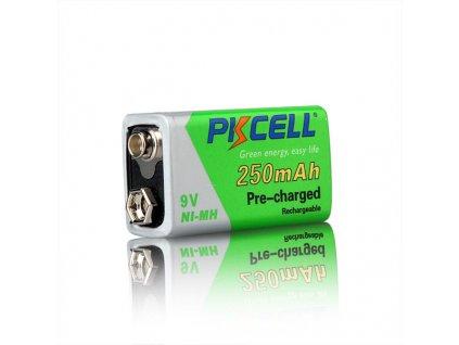 Nabíjecí 9V 250mAh Ni-Mh PK CELL baterie -přednabitá