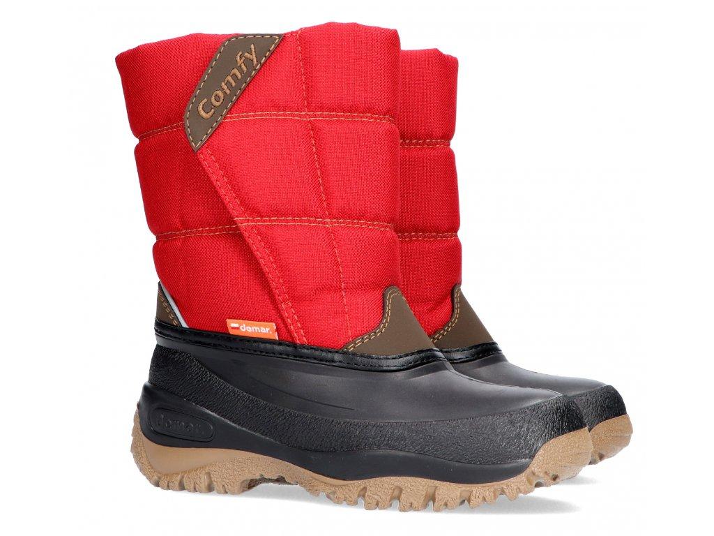 Dětské zimní sněhule Demar COMFY 1356 C červená