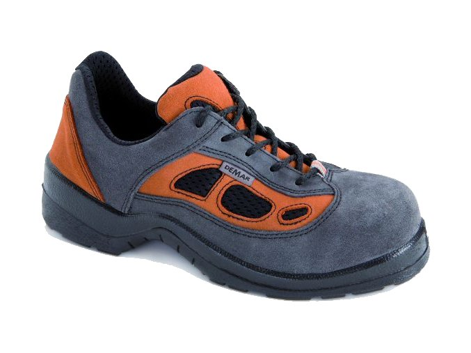 Pánská pracovní obuv Demar 9010 A SB E FO SRC 6166 šedá-oranžová - VÝPRODEJ (Velikost 42)
