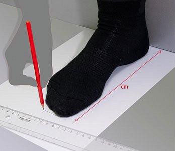 Ako namerať veľkosť nohy?