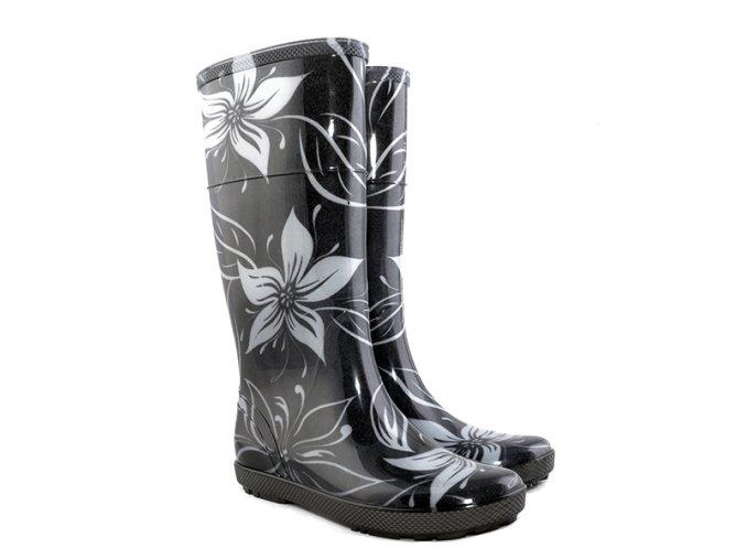 damske farebne gumaky demar hawai lady exclusive 0077 ec biely kvet