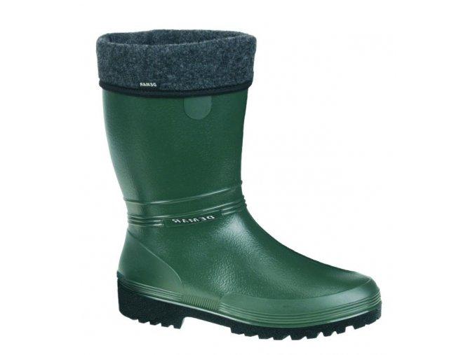 damske zateplene gumaky demar rainny lux 0506 b zelene