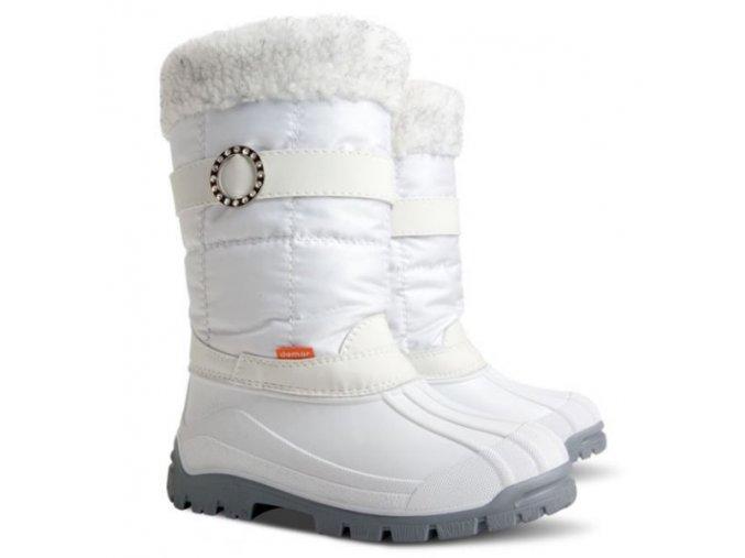 damske zimne snehule demar anette m 1313 a biele