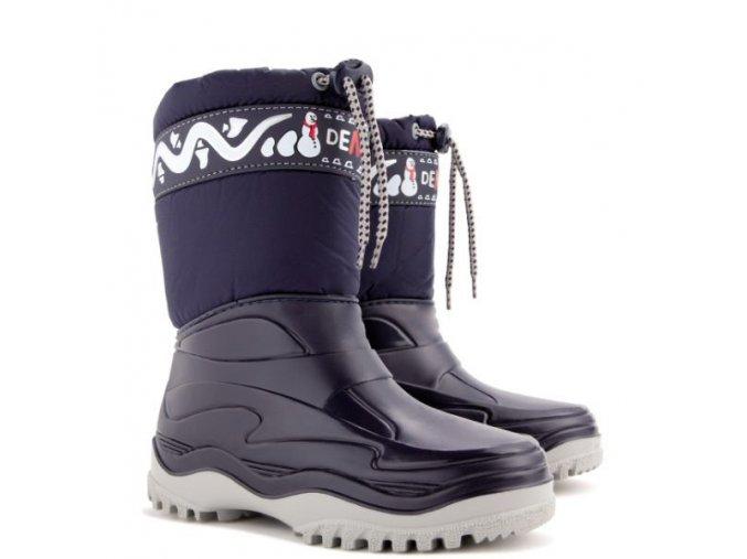 detska zimna obuv demar frost 0376 a modra