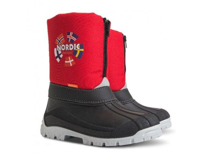 detske zimne snehule demar new nordic 1312 c cervena