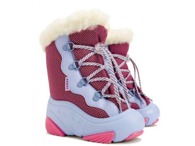 detske zimne demar snehule snowmar 4017 a ruzova