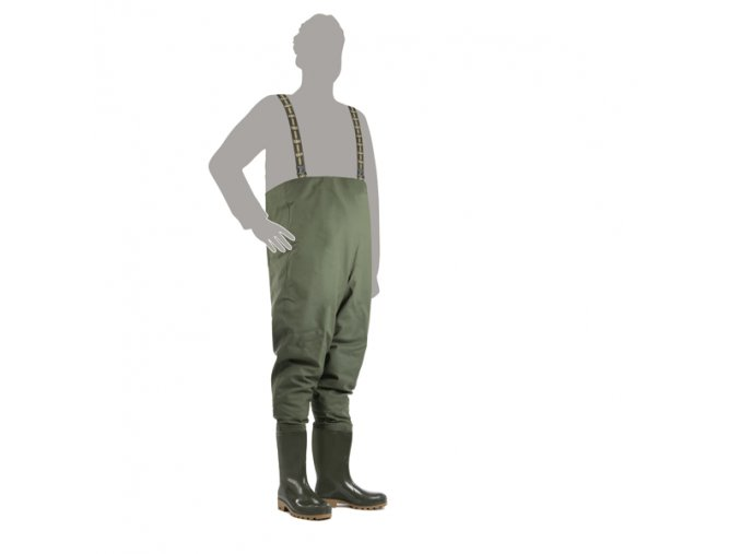 prsacky demar grand chest waders 3192 zelene