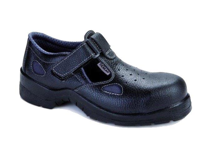 Pánska pracovná obuv Demar 9007 B SB 6125 čierna - VÝPREDAJ