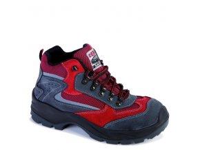 Dámska pracovná obuv Demar 7003 A O1 FO SRC 6567 červená
