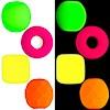 Neonové korálky s UV efektem
